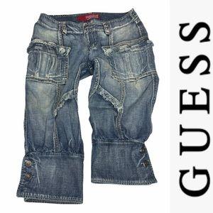 Vintage Guess Culottes Button Hem Jeans 29